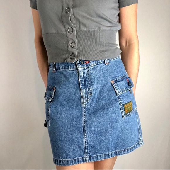 a24c6872ed American Eagle Outfitters Dresses & Skirts - AEO skirt denim high waist mini  cargo retro Sz